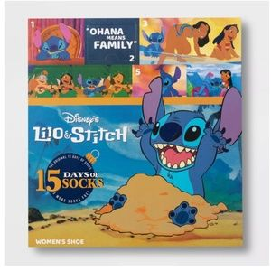 New 15 Days Socks Advent Calendar Lilo & Stitch